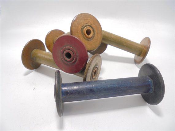 anciennes bobines en bois mercerie couture