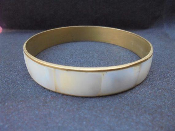 bracelet laiton et nacre