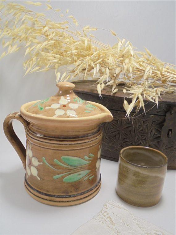 pot a lait alsace SH petite cafetiere theiere ceramique vernissee