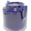 pot ceramique emaillee bleu roi art deco