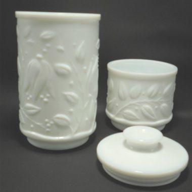 pots en verre opale blanc apothicaire pots a the tisane