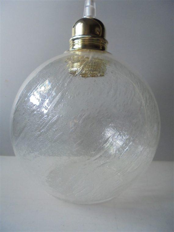 suspension globe en verre bulle