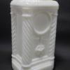 ancien pot opaline verre opale blanc 4 colonnes étoile