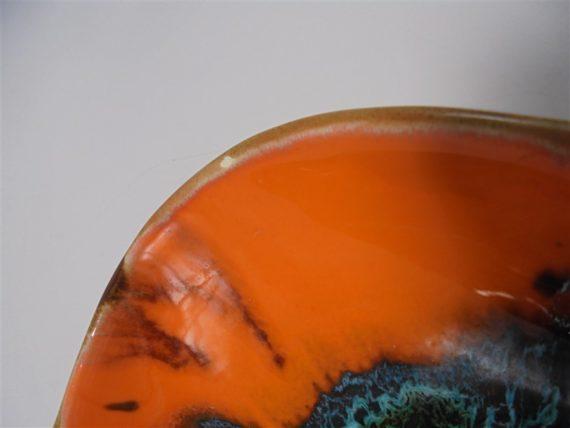 grande coupe en ceramique coloree signee vallauris