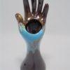 main baguier soliflore ceramique vallauris
