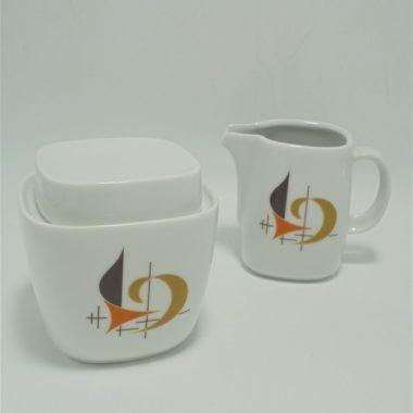 pot a lait et sucrier vintage ceramique signe schirnding bavaria