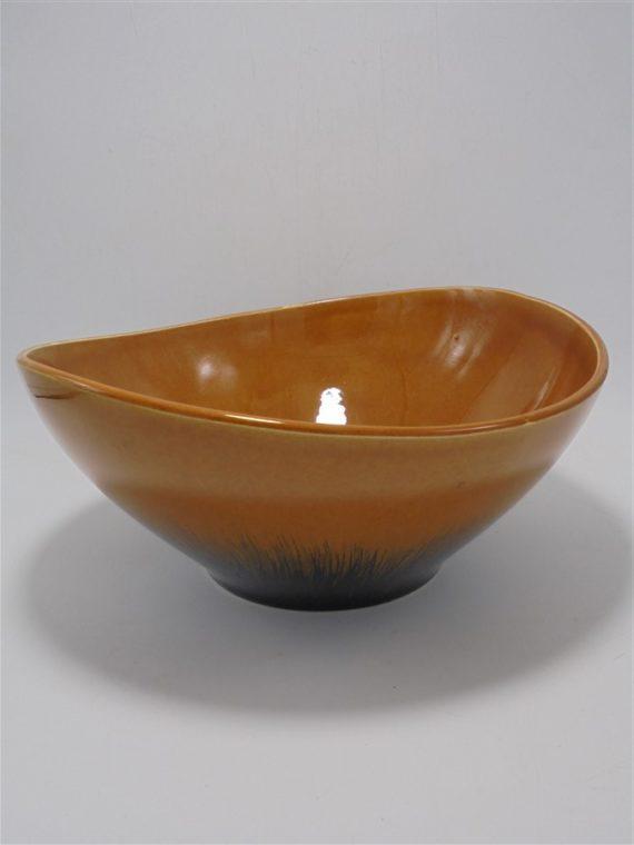 saladier vintage signe accolay ceramique fauve