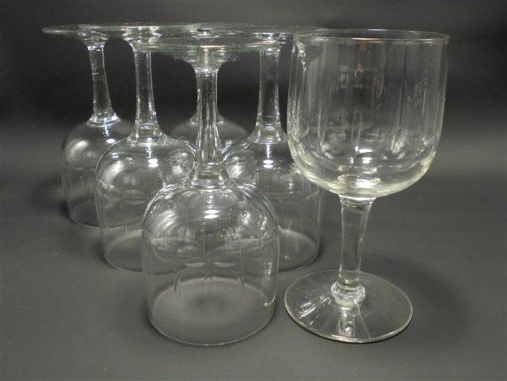 serie de 6 verres a pied