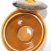 service a the ou cafe en ceramique signee accolay vintage annees 60 fauve et marron