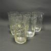 anciens gobelets en verre cisele decor floral verres a eau sirop