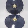 suspension en tole emaillee bleue luminaire vintage style industriel