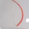 suspension vintage verre blanc et rouge