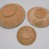 trio de coupelles en terre cuite jaspe