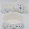 trio ramequins vintage ceramique fleurie