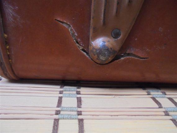 valise vintage samsonite annees 50 60 bois recouvert
