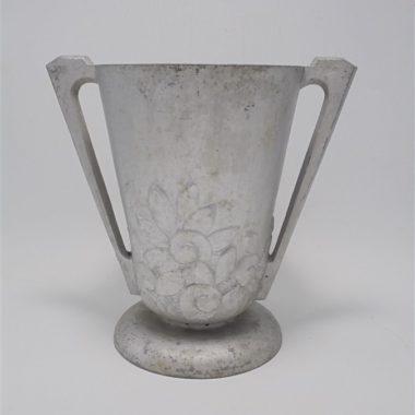 vase art deco en fonte d aluminium