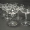 6 coupes a champagne en cristal taille