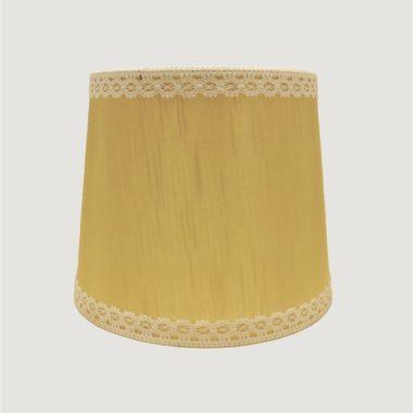 abat jour vintage pour lampe a poser de couleur jaune