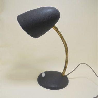 ancienne petite lampe de bureau vintage en metal granite noir