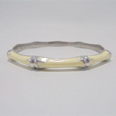 bracelet couleur argent et ivoire