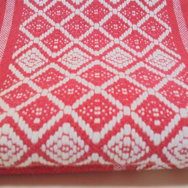 nappe vintage rouge et blanche esprit linge basque