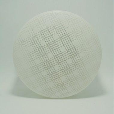 plafonnier vintage rond verre blanc decor carreaux granite