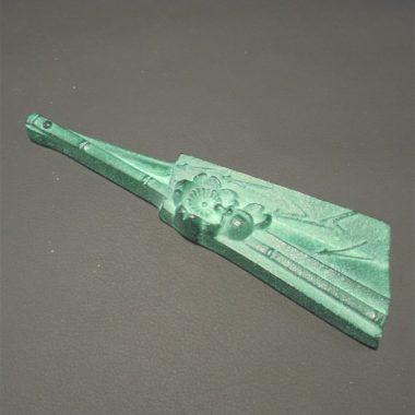 presse papier bronze eventail ferme art nouveau art deco