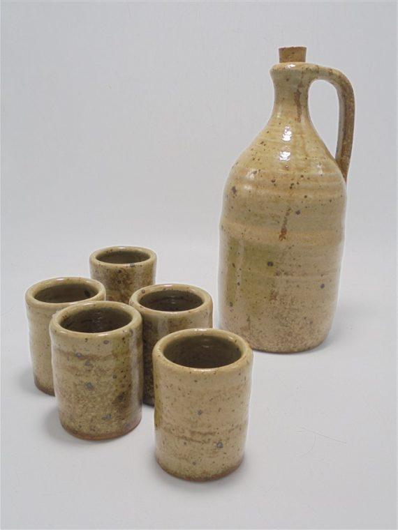 service en gres pyrite marcaggi le puy une bouteille et 5 gobelets
